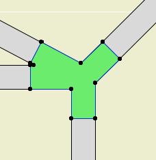 Angled intersection fill
