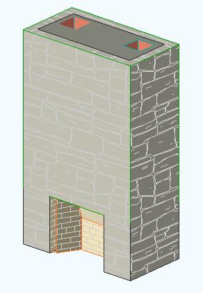 1 Fireplace in Plan