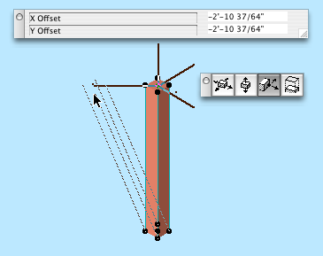 Offset stretch in 3D