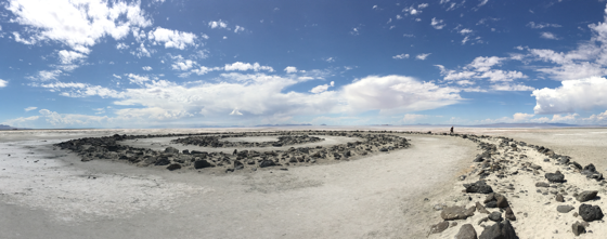 On Land: Spiral Jetty on August 23, 2017